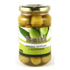 Green olives, jar, glass 200 gr