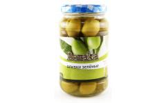 Оливки зеленые без косточек, банка, стекло 150 гр