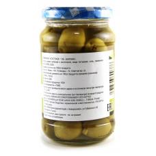 Green olives without seeds, jar, glass 150 gr