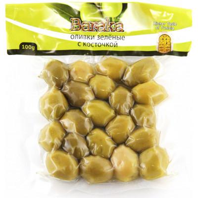 Green olives, vacuum bag 100 gr